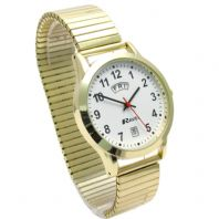 Ravel Men's Day/Date Watch Expanding Bracelet Goldtone 0706.19.1EX